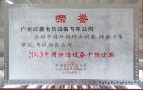2013 China Ten Strong Enterprise(Baking Equipment)