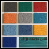 10 colours of litchi pattern sports flooring have stock