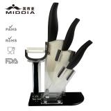 5pcs Ceramic Knife Set with Block