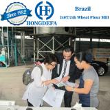 Brazil client 200T wheat mill