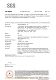 RoHS/ SGS Certificate of Membrane Housing