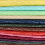 2017 Fashionable Woven PU PVC Synthetic leather for bag handbag