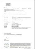 SGS certificate for alkaline free mercury battery