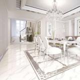 volakas white glazed polished tile