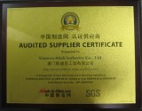 Audited Supplier Certificate 2010