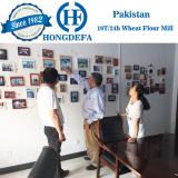Pakistan client visiting wheat mill
