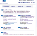 D&B D-U-N-S Registered Factory