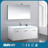 Luxury Contemporary Quality Wall Mounted White Bathroom Cabinet Designs with 3 Doors