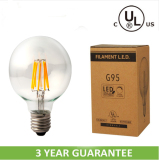 5w golbe led bulb E27/E26/B22 with dimmable