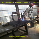 hot dip galvanized metal grating welded end by automatic robot welded machine