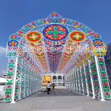 Thailand Goverment Large Scale wall paniting LED Motif Light Project