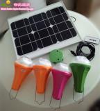 20W solar lighting kits with 4pcs rechargeabel lamp global sunrise lights