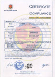CE Certificate of Extruder