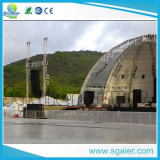 Stage barrier mojo barrier with aluminum curved truss and speaker truss