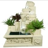 Sandstone Sculpture Square Decorations Water Resin Fountain