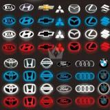 4D led Car Logo Emblem XV Forester Outback Legacy Impreza Car Auto LED Emblem Light