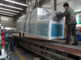 The PVC pipe extrusion line sent out from factory today