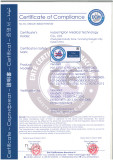 ECM certificate for medical pendant