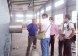 Korea customer visited our 12ton tyre pyrolysis plant