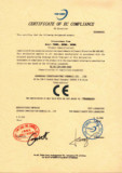 certificate of EC compliance