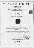 MPA-CERTIFICATE Z-08230/8