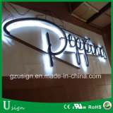 LED backlit stainless steel channel letter