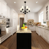 Noble America Project White Solid Wood Modular Kitchen Cabinets(OP14-S00)