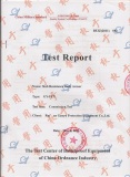 test report for stab resistance body armor