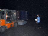 Packing in the port (Night)
