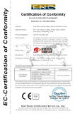 CE certification for our products