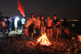Beach BBQ with sales department