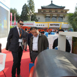 Mexico client visiting products in Beijing trade