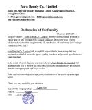 Declaration of Conformity