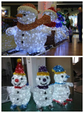 Shooping mall 3D christmas snowman decoration