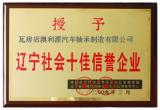 Top Ten Enterprises of LiaoNing