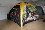 printed outdoor 4x4m, 5x5m advertising inflatable dome tent