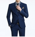 New style 2- button wool men′s suit