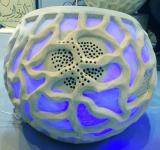 Outdoor Garden Sandstone Ball Lighting Sculpture Audio Speaker