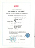 CE Certificate of Hermetic Sliding Door