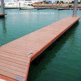 WPC flooring on wharf