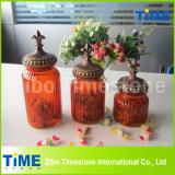 Color Sprayed Storage Glass Jar