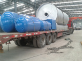 2800-6600 Tyre pyrolysis plant loading for Bangladesh user