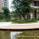 WPC decking in courtyard
