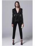 100% wool balck women business suit