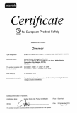 Semko certificate for Dimmer Switch