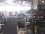 Russia Customer Visit Wedged screen welding machine