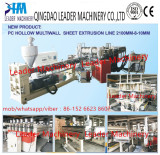 2016 New Product 2100mm width PC hollow sheet/sunshine panel extrusion line