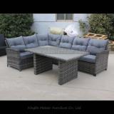MTC-268-3 Rattan corner sofa dining set