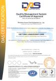 ISO certificate of fluid equipment