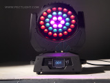 36X10W LED ZOOM WASH MOVING HEAD LIGHT